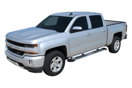 "2007-2019 Chevy 2500/3500 Double/Ext. Cab (Gas/Diesel) OEM Style 6"" Running Boards (Silver)"