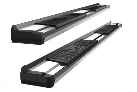 2007-2018 GMC Sierra 1500 Crew Cab S-Series Running Boards (Stainless Steel)