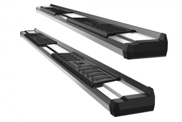 2019-2021 GMC Sierra 1500 Double Cab S-Series Running Boards (Stainless Steel)