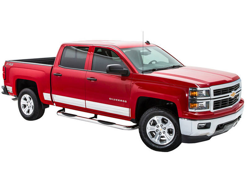 Gmc Canyon Length >> NERF16CHX: 2001-2018 GMC Sierra 3 Round Stainless Steel Nerf Bars [NERF16CHX] : Running Boards ...