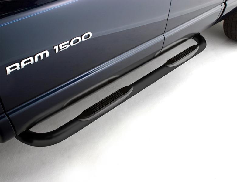 BLAK99DGX: 2009-2018 Dodge Ram 1500 Quad Cab 3 Round Black Nerf Bars [BLAK99DGX] : Running ...