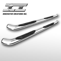 "3"" Round Nerf Bars (Cab Length) Stainless Steel"