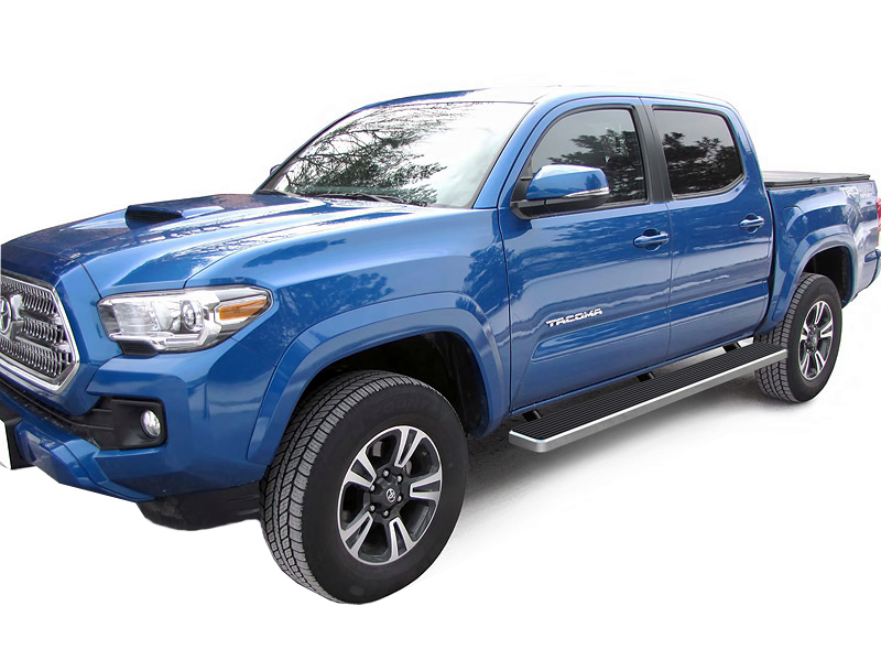2018 Chevy Avalanche >> IB20EJE8A: 2005-2018 Toyota Tacoma Double Cab iStep 5 (Silver) [IB20EJE8A] : Running Boards ...